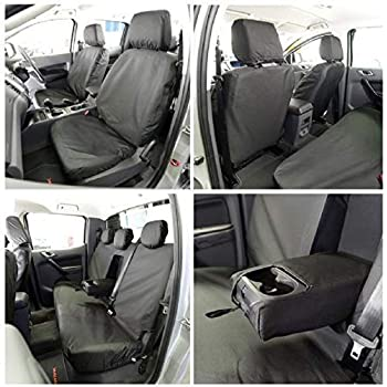 VW CADDY 2020 ON TAILORED /& WATERPROOF FRONT SEAT COVERS BLACK 146