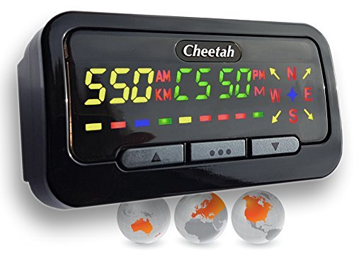 Cheetah C550 GPS Speed & Red Light Camera Detector with Life Membership