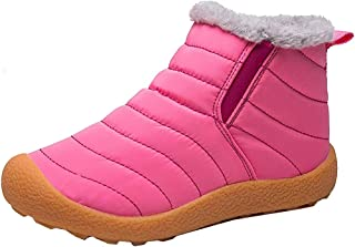 INMINPIN Chaussures d'hiver Homme Femme Bottes de Neige Garçon Fille Imperméables Chaudes Fourrure Baskets Bottines Parent...