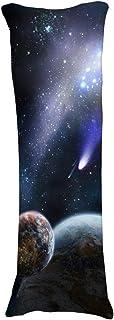 wonbye Soft Gravity Earth - Protector de almohada con cremallera para el cuerpo, lavable a máquina, doble cara, 40 x 140 cm