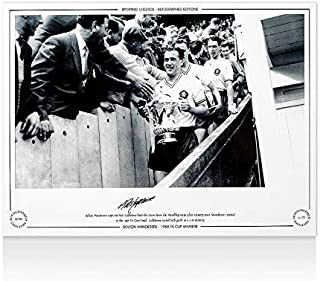Nat Lofthouse Signed Bolton Wanderers Photo - 1958 FA Cup Winner Trophy - Soccer Autographed Miscellaneous Items