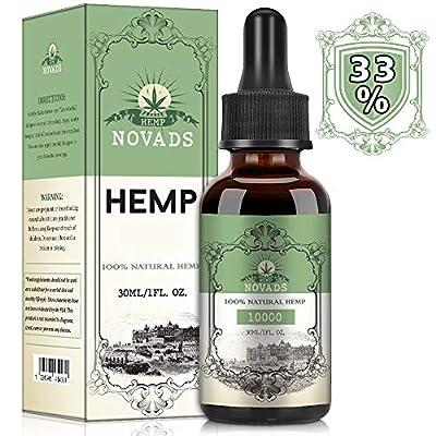 Hemp Pure Oil, High Strength 100% Natural Ingredients 30ML (10000MG)
