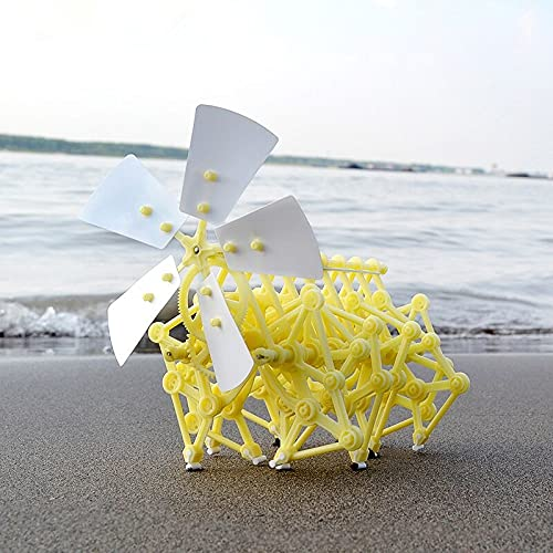 1 unid generación de energía eólica biónica invención bricolaje manual robot rompecabezas ciencia experimento libro de texto niños montado regalo