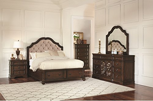 Great Price! Coaster Home Furnishings Ilana Bedroom Collection Traditional Formal Queen Storage Bed ...