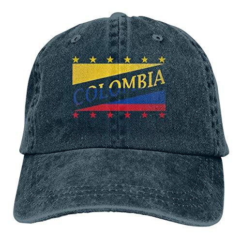 Osmykqe New Colombia Flag Football World Cup Denim Navy Bucket Hat Sonnenhut UV Ionen Outdoor Wandern Cap