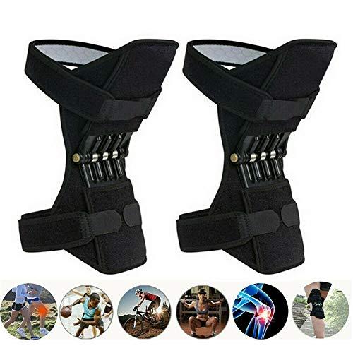 fgfh Rodilleras, un par de protectores de rodilla ajustables, protectores de rodilla, protectores de rodilla transpirables con resortes fuertes