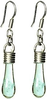 Joyería para mujer - Arete de plata y vidrio brillante tipo gotita Bacardi