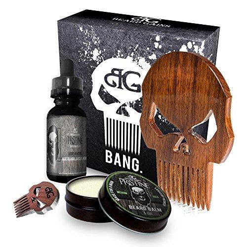 The Punisher Skull Logo Beard Care Kit