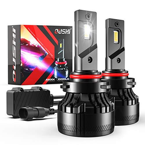 Bombilla 9005 HB3 LED Coche, OUSHI 110W 2x10000LM 6500K Xenon Blanco 12V Súper Brillante LED Bombillas Faros Delanteros para Coches Kits de Conversión (Paquete de 2)