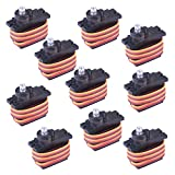 Longruner 10Pcs MG90S Metal Geared Micro Servo Motor 9G For Helicopter Airplane Boat Controls mini...