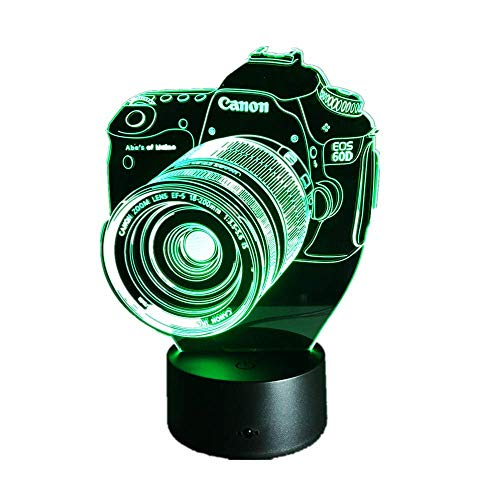 Lámpara 3D USB Power 7 colores Increíble ilusión óptica 3D Grow Lámpara LED Cámara Niños Dormitorio Luz nocturna Control táctil