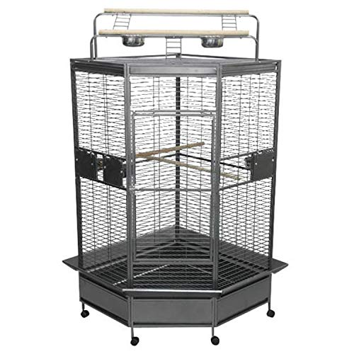 "A&E Cage Co. CC3232 Black Corner Bird Cage, 32""/Large"