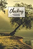 Checking Account Ledger: Landscape with Sunset Tree and Lake Cover/ Check Register for Personal Checkbook / 2,400+ Entries / Spending Tracker / Great Gift for Organized Person
