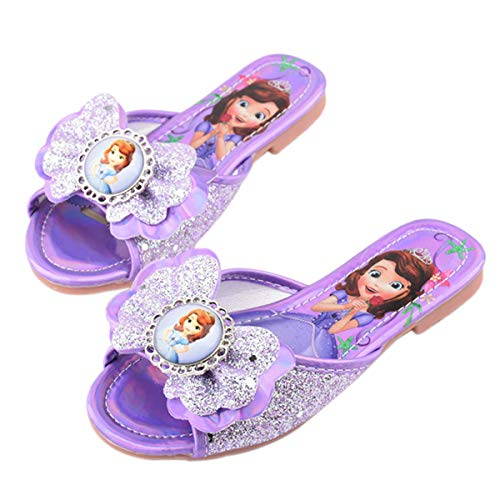 YOSICIL Disfraz Infantil Juego de Zapatos de Princesa Elsa Frozen Deluxe Zapatillas...