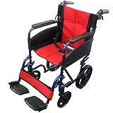 【非課税】Nice Way2(ナイスウェイ) 折りたたみ式 車椅子【座面幅約46cm】【ゆったりサイズ】【簡易式】【NW976LABJ】【介護 介助用】【介助ブレーキ付き】