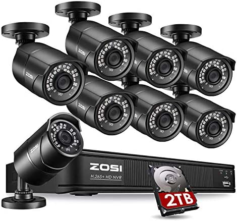 ZOSI 1080p PoE Home Security Camera System Outdoor Indoor 8CH 5MP H 265 PoE NVR Recorder with product image