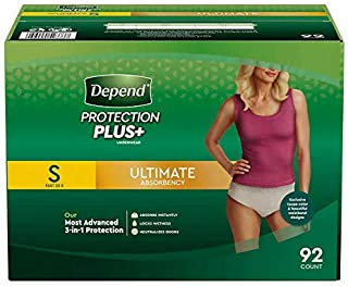 Depend FIT-FLEX Max Absorbency, Incontinence Underwear for Women,S, Tan, 92
