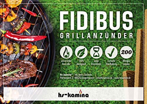 hs-kamine 200 Stück Grillanzünder Fidibus BBQ Grillanzünder natürliche Anzündstäbe EIN reines Naturprodukt