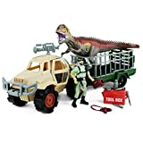 Boley Dinosaur Explorer Play Set - 13 Piece Dinosaur Toys Set with Roaring Giant T-Rex Dinosaur Toy, Explorer Figure, Large Truck, Tool Box, and More!