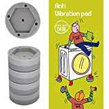 Washer and Dryer Anti-vibration and  Anti-Walk pads, Furniture Anti Slide feet, Premium Set of 4 Noise Reduction pad by Enterpark Only