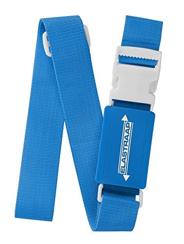 Luggage Straps, Adjustable Non-Slip Baggage Belts - Suitcase Bands for your Travel Bag (1 Strap, Blue 1pk)