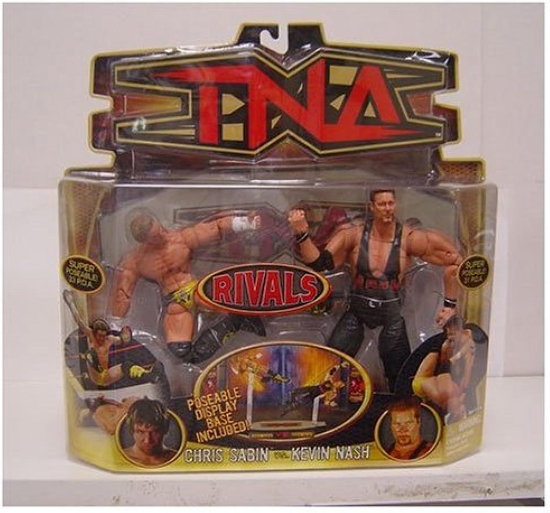TNA Wrestling Rivals Action Figure 2-Pack Chris Sabin vs. Kevin Nash