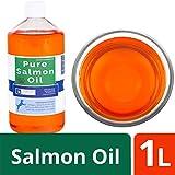 OURONS 1 litro di Olio Puro di Salmone per Cani integratore Alimentare di Olio di Pesce Puro al 100%
