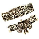 Sharplace 2X Femmes Style Vintage Nordique Viking Pince à Cheveux Celtique Barrette en Métal Fabriqué à La Main