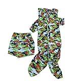 POPETPOP impermeable para perros grandes-traje de lluvia de 4 patas para perros pequeños medianos grandes, adorables disfraces con capucha para golden retriever labrador chihuahua poodle-camuflaje 5xl