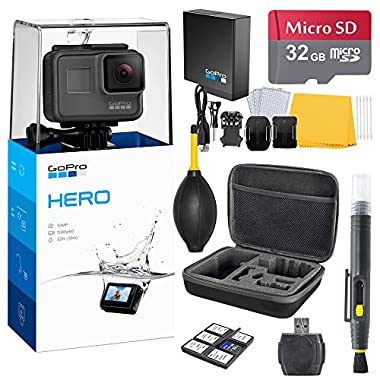 GoPro HERO (2018) Bundle (7 items) + 32GB Card + Camera Case + Accessory Kit