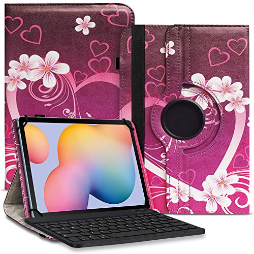Tablet Hülle kompatibel für Xiaomi Mi Pad 5 / Pro Tasche Schutzhülle Bluetooth Hülle Universal Keyboard Cover 360° Drehbar praktische Standfunktion, Farbe:Motiv 2