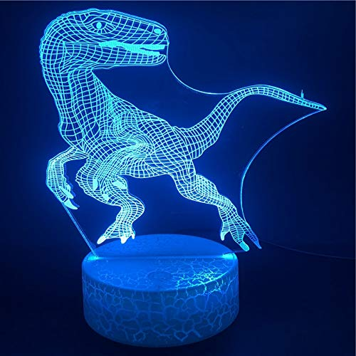 Wecker Die Dinosaurier Baseraptors Animal Ligh Bright Office 3D LED Nachtlicht USB Tischlampe Kinder Geburtstagsgeschenk Nachttisch Dekoration