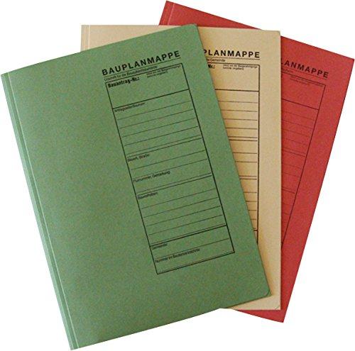 RNK - Verlag 2777 - Bauplanhefter für das Bauantragsverfahren, Maße (BxH) 230 x 318 mm, 1 Packung à 3 Stück, farbig sortiert