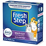Fresh Step Multi-Cat Extra Strength Scented Litter with the Power of Febreze, Clumping Cat Litter, 14 Pounds (Package May Vary)