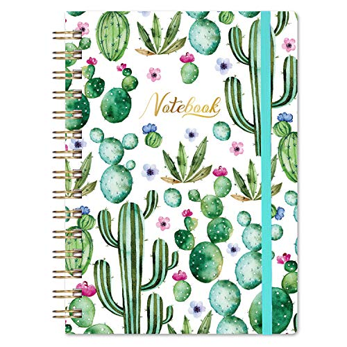 Ruled Notebook Journal with Elastic Band 63quot X 835quot Hardcover Back Pocket Strong TwinWire Binding with Premium Paper College Ruled Spiral Notebook Perfect for School Office amp Home