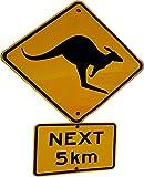 wandmotiv24 Wandsticker Achtung Känguru Schild S - klein 30x37cm Wand-Aufkleber, Sticker, Schrank-Bild, Wandbild WS00000127