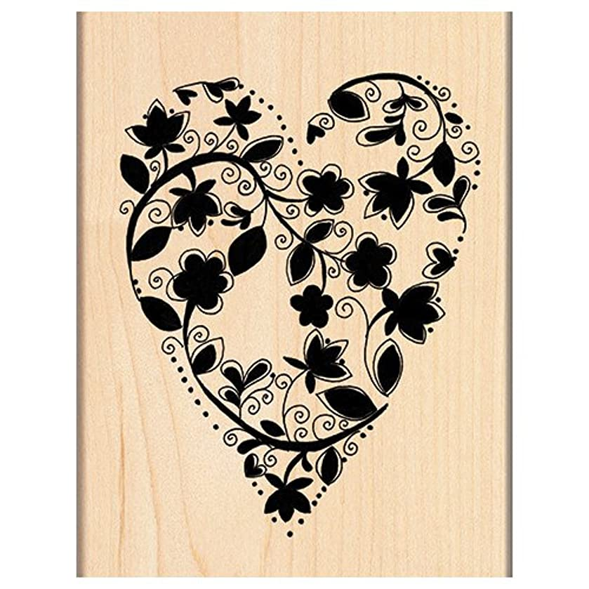 Penny Black 4121K Wood Mounted Rubber Stamp, Love Grows