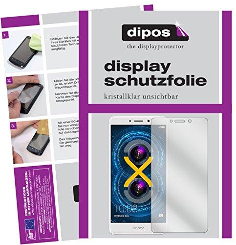 dipos I 2X Schutzfolie klar kompatibel mit Honor 6X Folie Displayschutzfolie