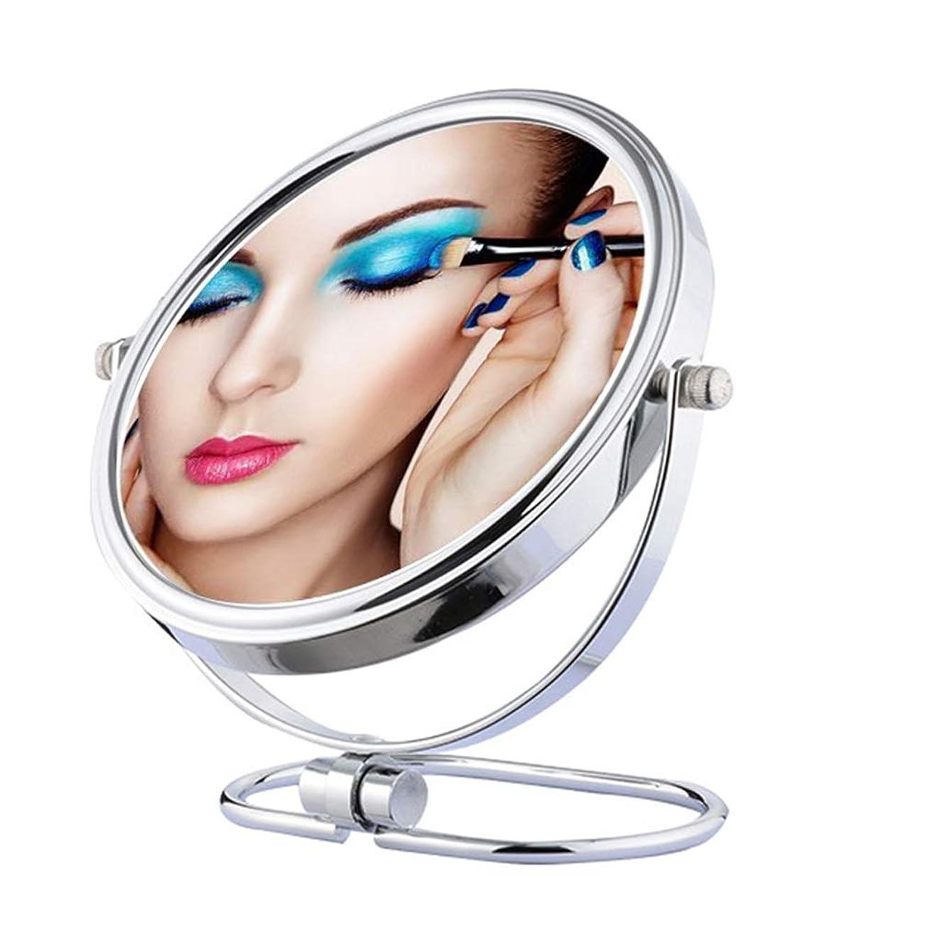 修士号忠実なオリエント照明付き化粧鏡 吸引ミラーが付いている化粧鏡3Xの拡大の化粧鏡、手持ち型のミラー拡大の360度の旋回旅行ミラー 化粧鏡 (Edition : 8-inch mirror (plane+3X zoom))