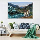 tzxdbh , peintures sur Toile de Haute qualité, peintures murales, Chiens intelligents, décorations pour bébés,...
