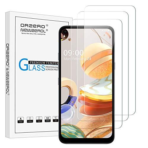 NEWZEROL 3 Stück Bildschirmschutzfolie für LG K61 / LG K41s / LG K51s Panzerglas Kleinere Gebogene Kante 2.5D Lichtbogenkanten Anti Scratch 9 Festigkeit Hochauflösende Bildschirmschutzfolie aus gehärtetem Glas