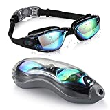 Titir Unisex Adult's Outdoor Swimming Waterproof Anti-Fog Anti-UV Goggles with Protective Cover...