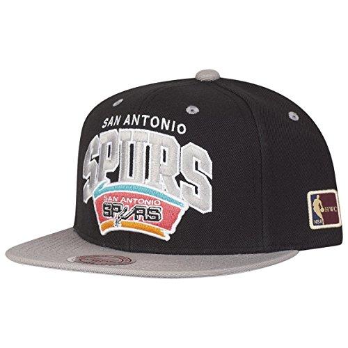 Mitchell & Ness Gorra de San Antonio Spurs Team Arch Snapback con parche HWC