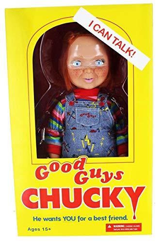 Chucky 78004 sprechende, 38 cm große Puppe mit nettem und lächelndem Gesicht von Good Guys.