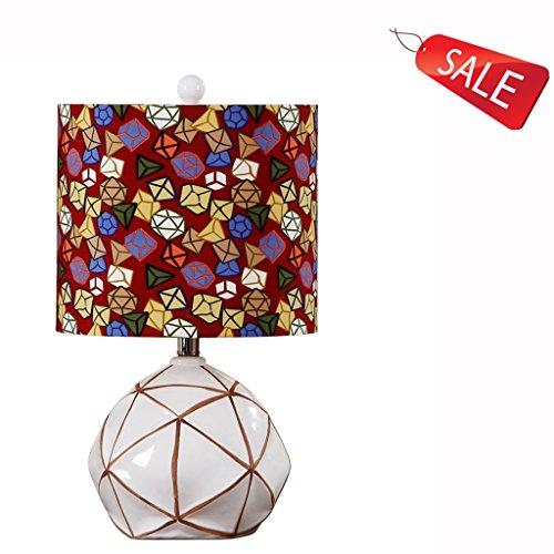 Lampe pour chambre d'enfant européenne simplicité pastorale créative blanc chambre en céramique salon meubles E27