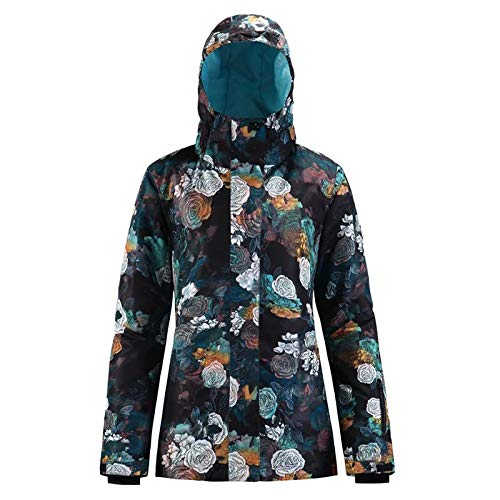 Womens Mountain Waterproof Insulated Ski Jacket with Hooded Warm Windproof Womens Snow Jacket Ski Coat for Snowboarding Jackets