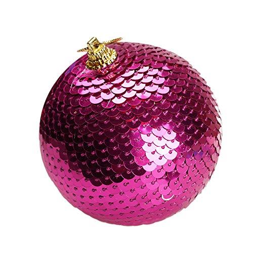 Christmas Sequin Glitter Baubles Balls Xmas Tree Ornament Decoration 8CM Home & Garden Home Decor