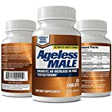 Ageless Male Free Testosterone Booster for Men - Promote Lean Muscle Mass w/Strength Training, Healthy Energy Production, Drive, Stamina, Enhancement, Health Supplement (60 Tablets, 1-Pack)