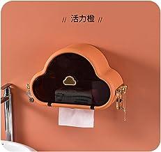 Toiletrolhouder, badkamerweefselhouder voor badkamer, keuken, wasruimte -Oranje
