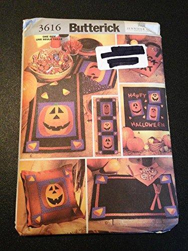 Butterick 3616Schnittmuster, Halloween Zubehör zum Aufhängen, Tisch-Sets, Tischläufer, Kissen
